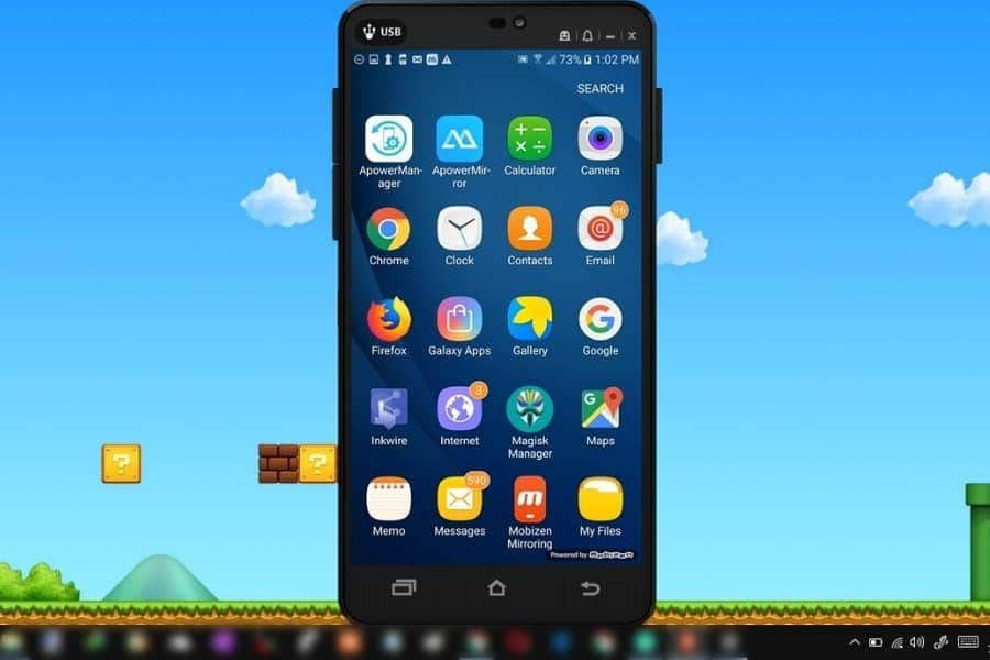 cast android mobile screen to pc