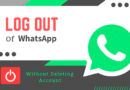 Logout from WhatsApp On Android
