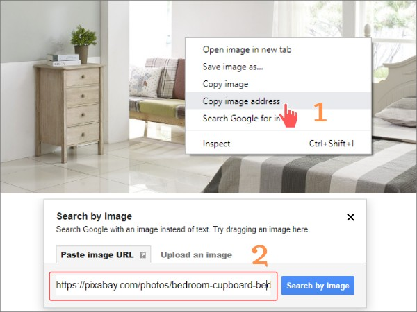 search Google with an image url