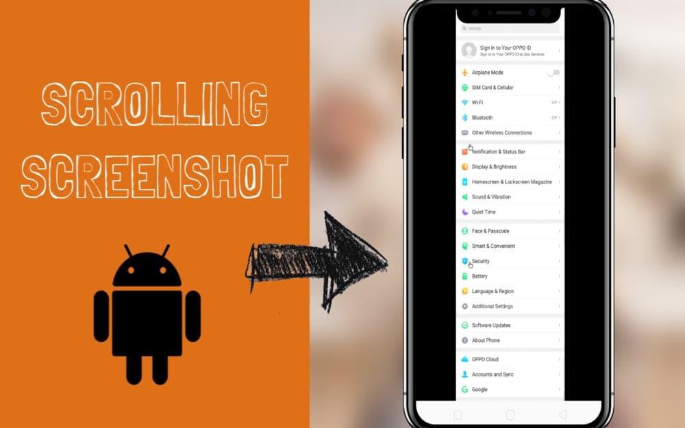 take scrolling screenshot on Android