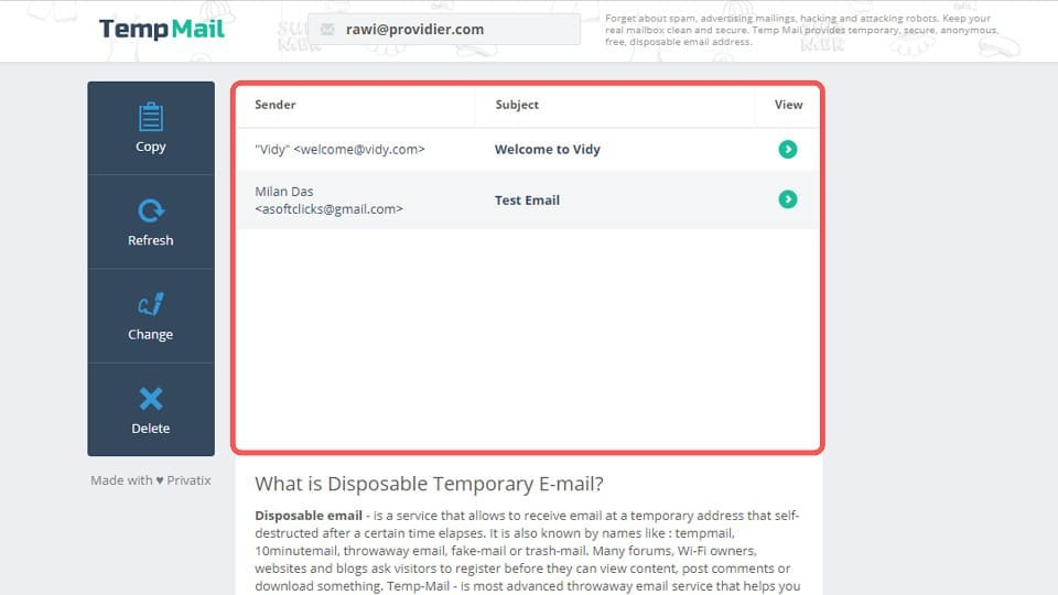 temporary email address, temp email address, temporary email generator