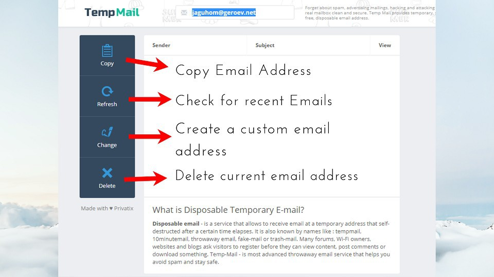 free temporary email, my temp mail