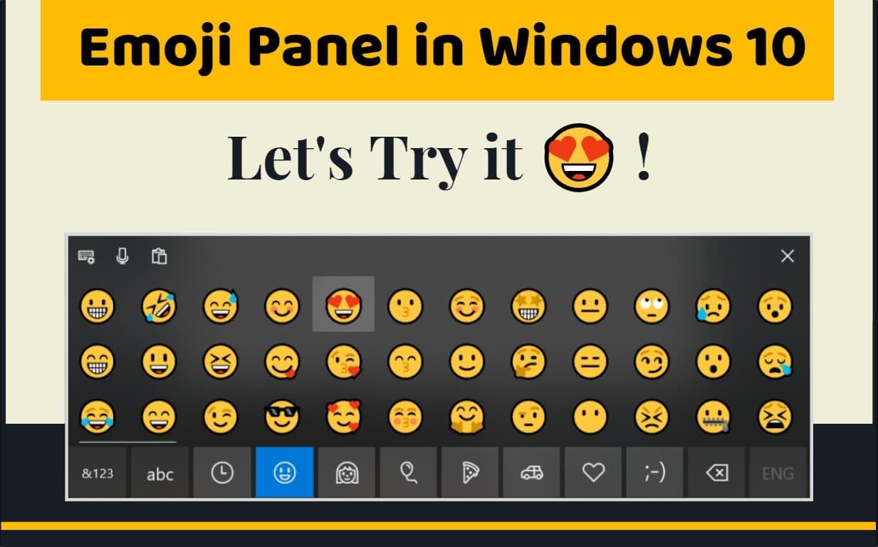 type emoji in Windows 10