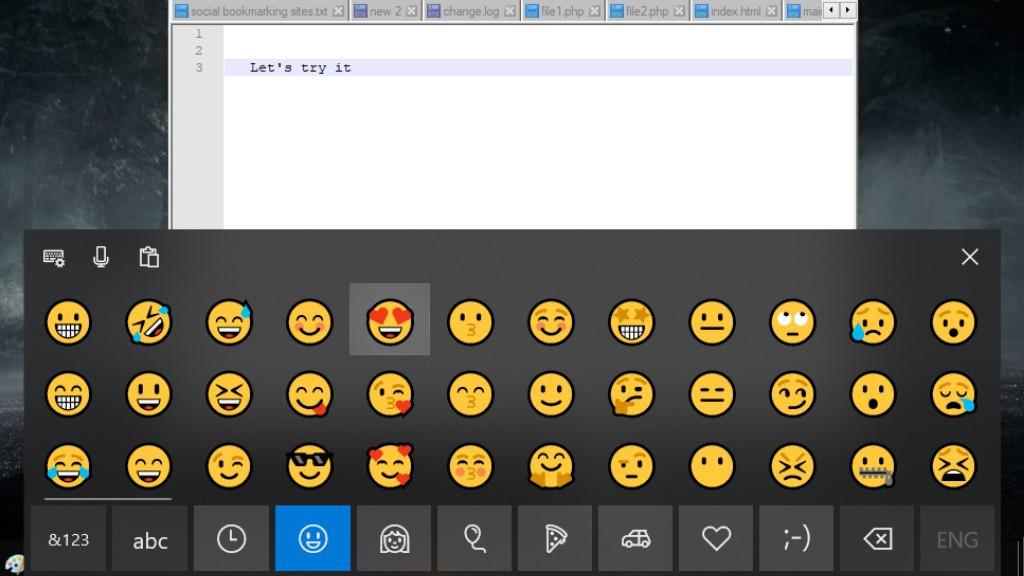 windows emoji, open emojis in windows 10