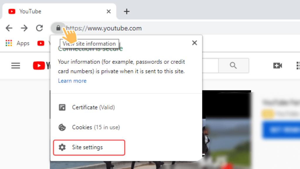 turn on website notifications windows 10 chrome