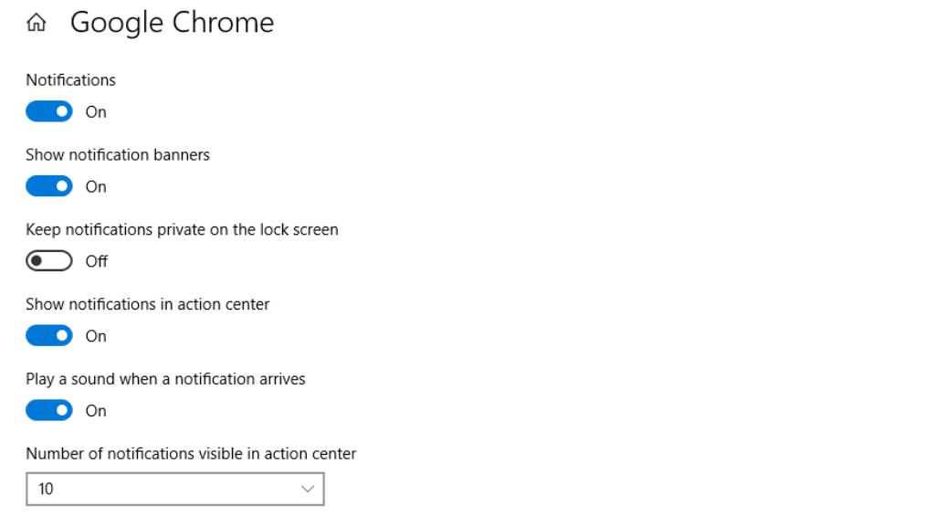 Change notification settings in Windows 10, customize notifications on Windows 10
