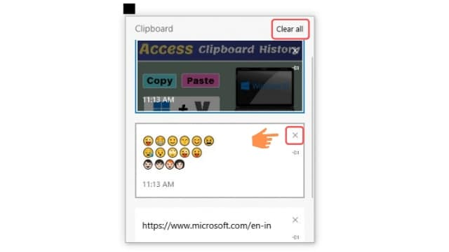 clear clipboard history windows 10, delete clipboard history windows 10