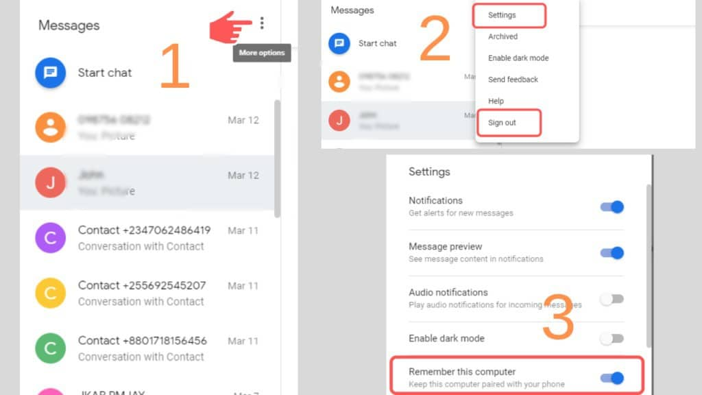 android messages desktop