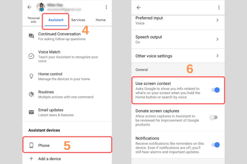 enable screenshot on google assistant, google assistant screenshot settings