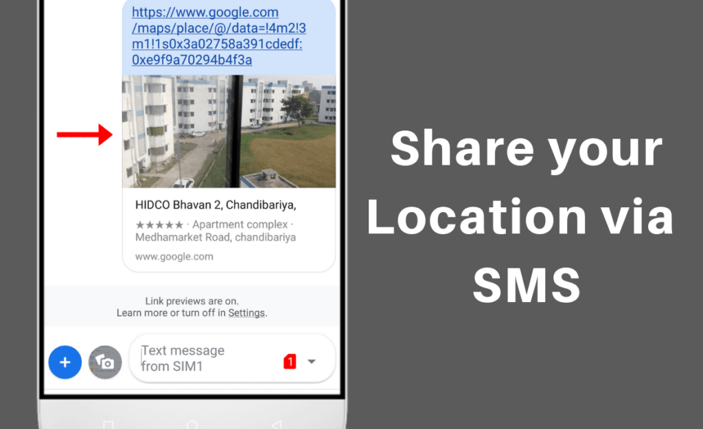 Share your GPS Location via SMS on Android
