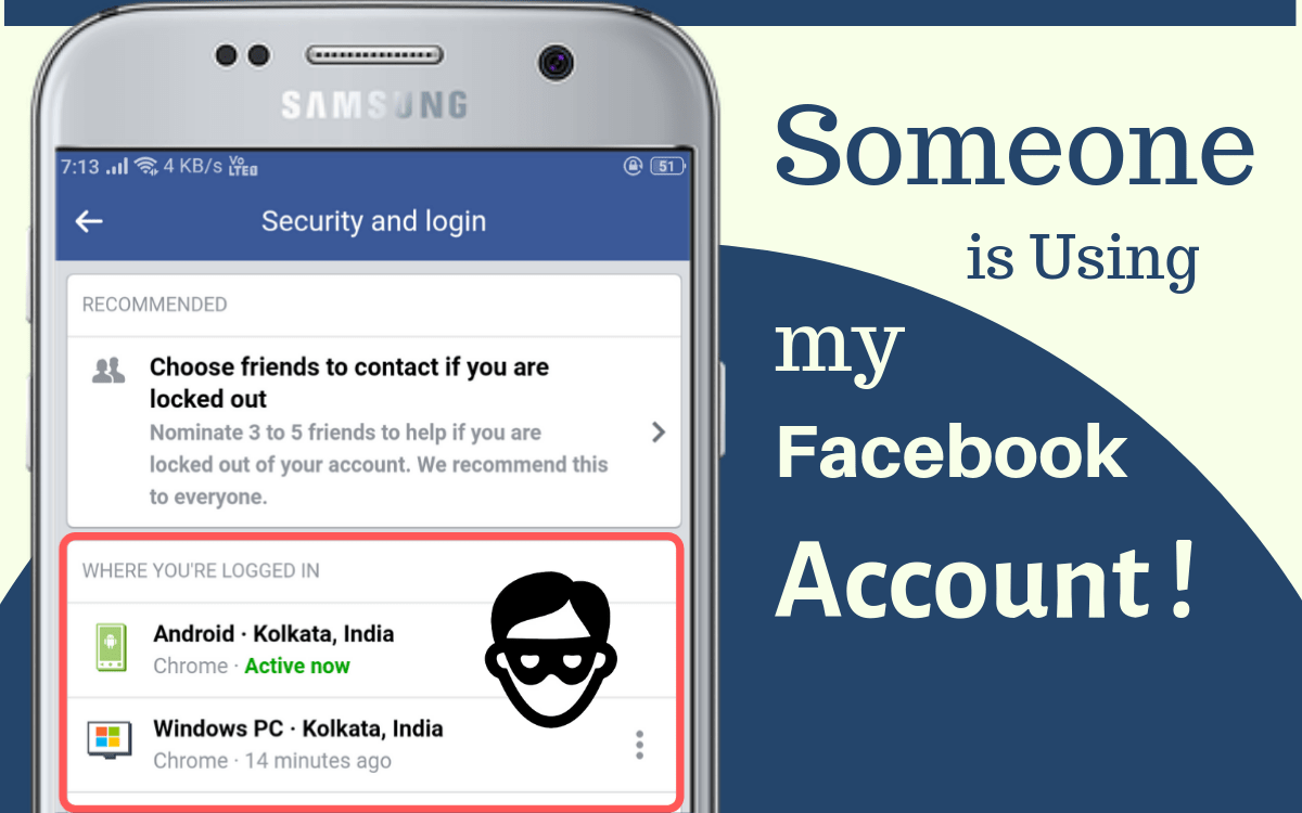 Check if someone is using your facebook account
