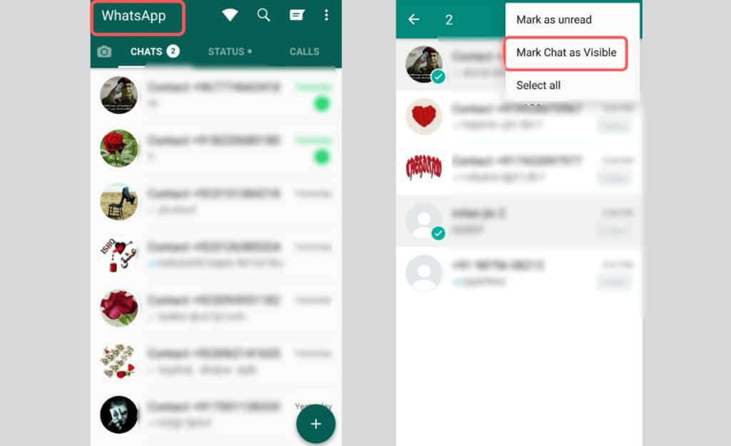 how to unhide chat in gbwhatsapp