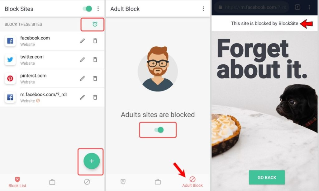use BlockSite website blocker for Android