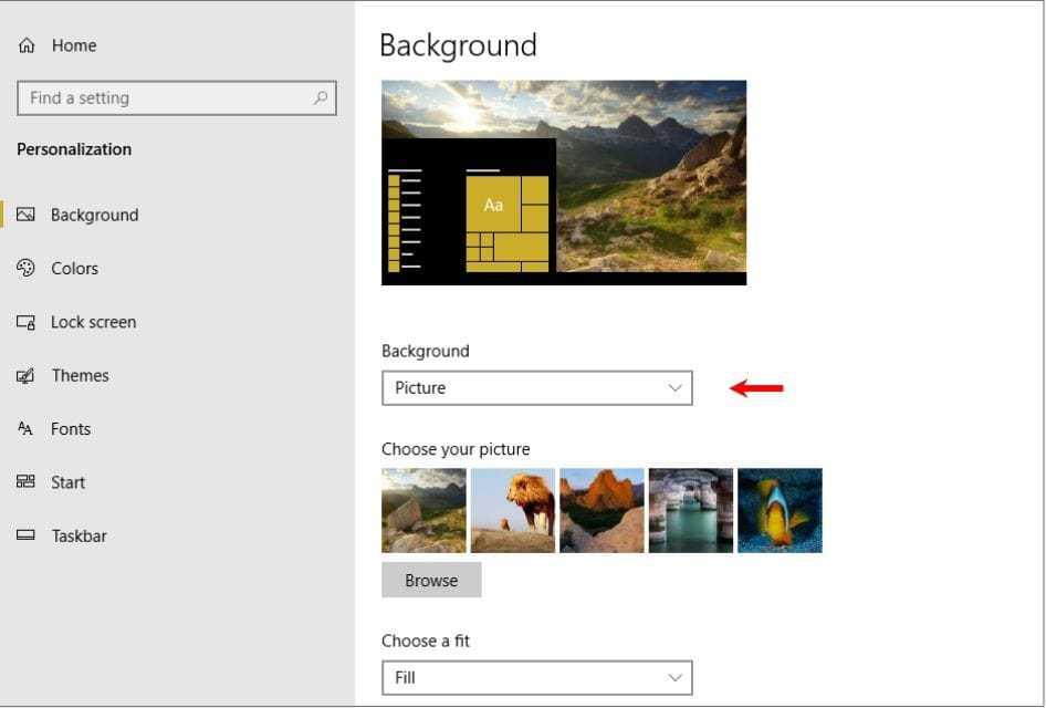 set the windows 10 lock screen photo as your desktop wallpaper