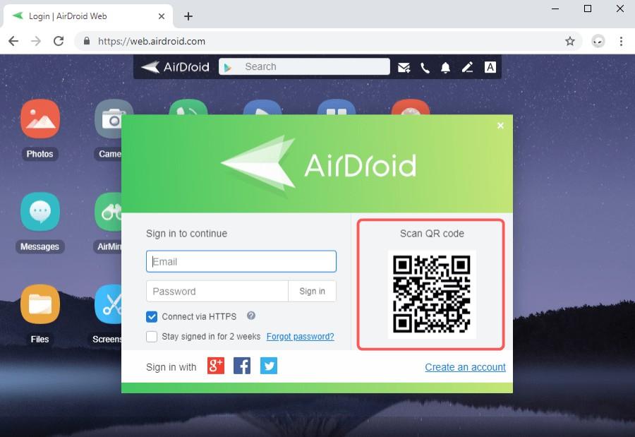 Scan QR code android screenshot