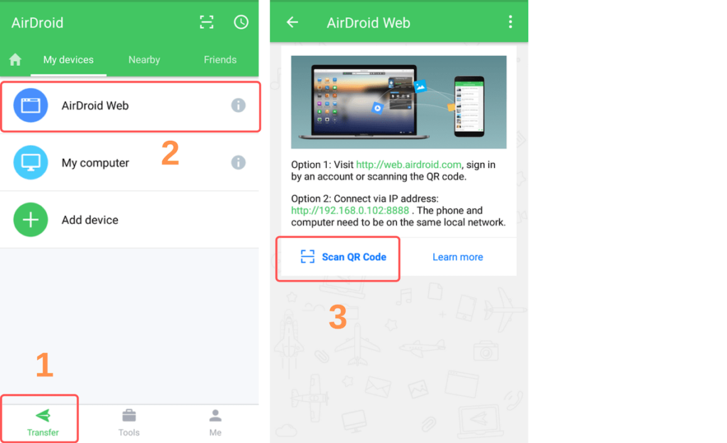 AirDroid WEB Android screenshot