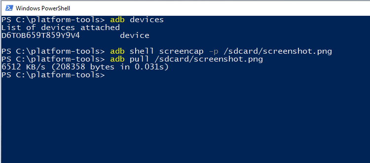 Take Android screenshots on your PC using ADB