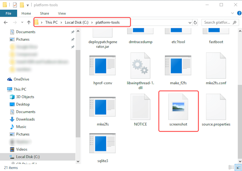 Android screenshots on your PC