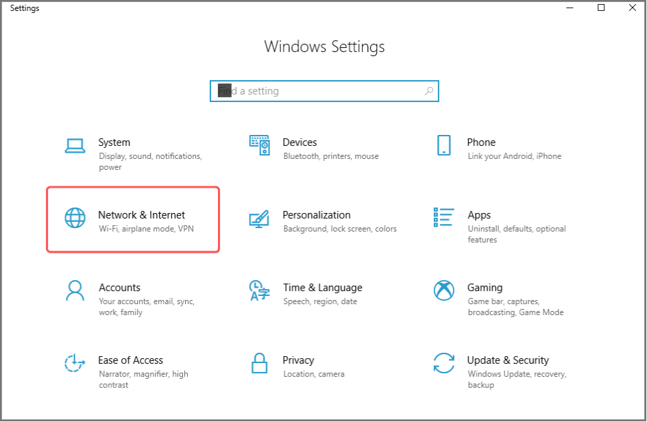 set up file sharing in Windows 10