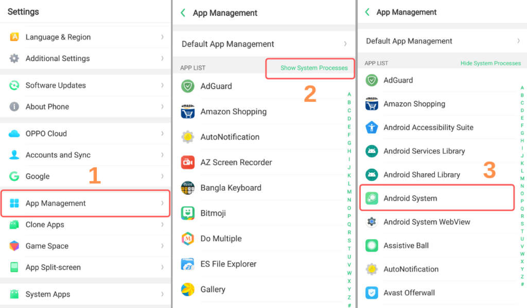 hide android system notifications