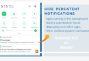 how to hide persistent notifications android
