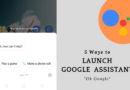 how to open google assistant android