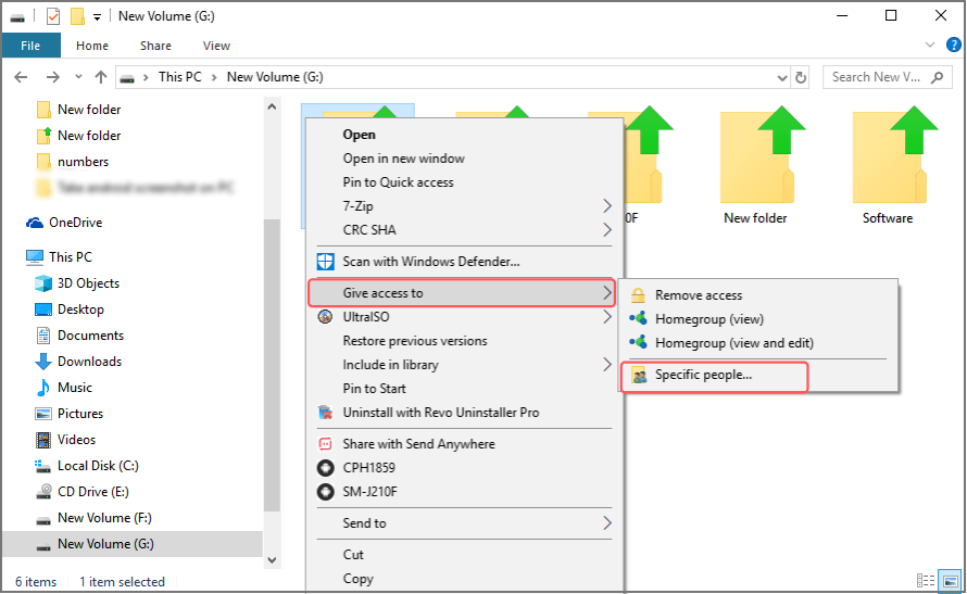 share files without HomeGroup on Windows 10