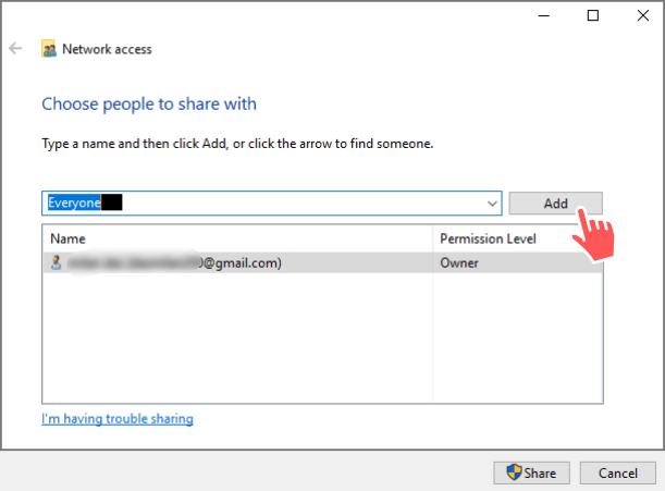 Share a Folder Without Creating Homegroup