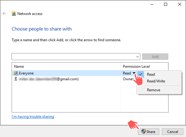 File sharing between computers without HomeGroup
