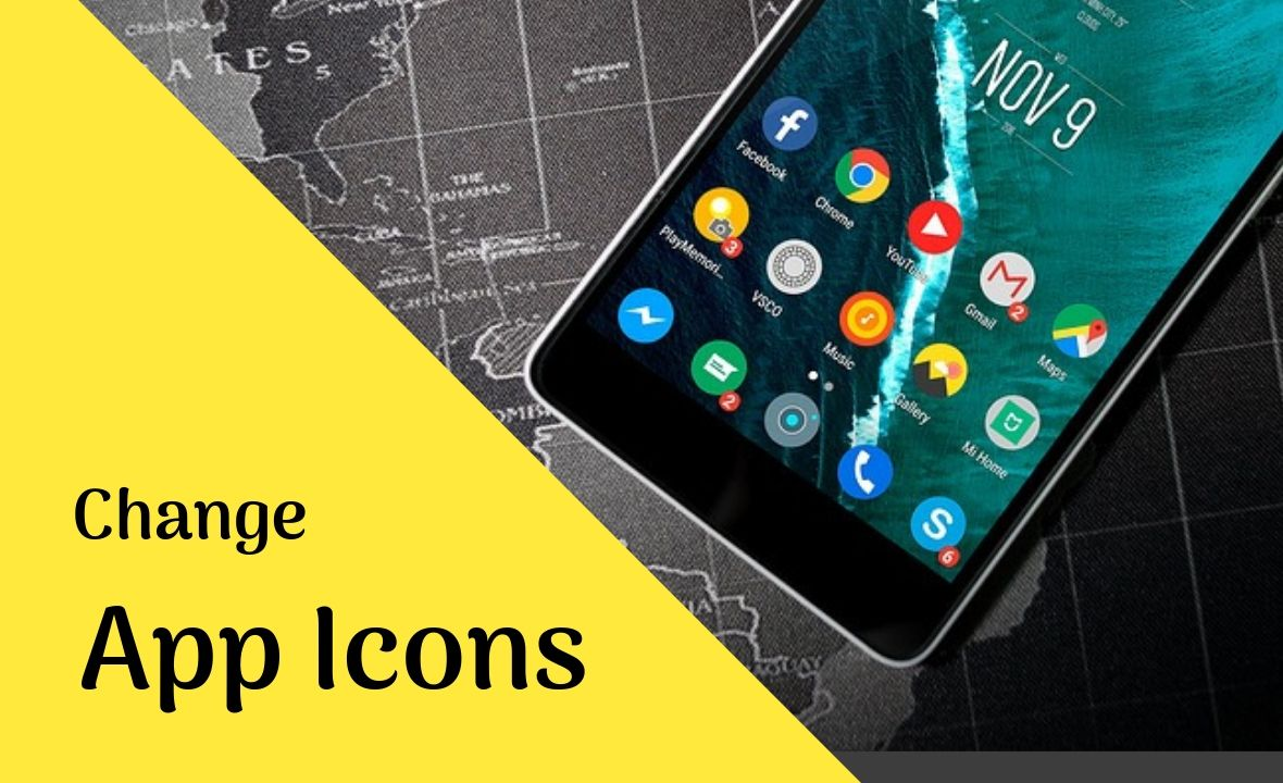 change apps icons on android
