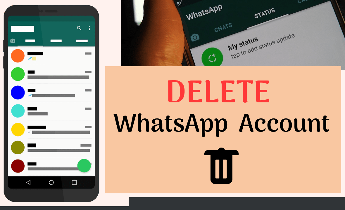 how to deactivate whatsapp account on android