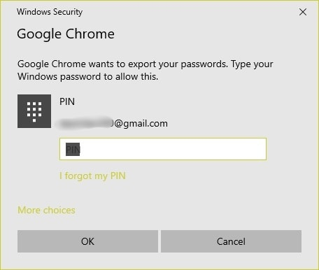 how to export saved passwords from chrome