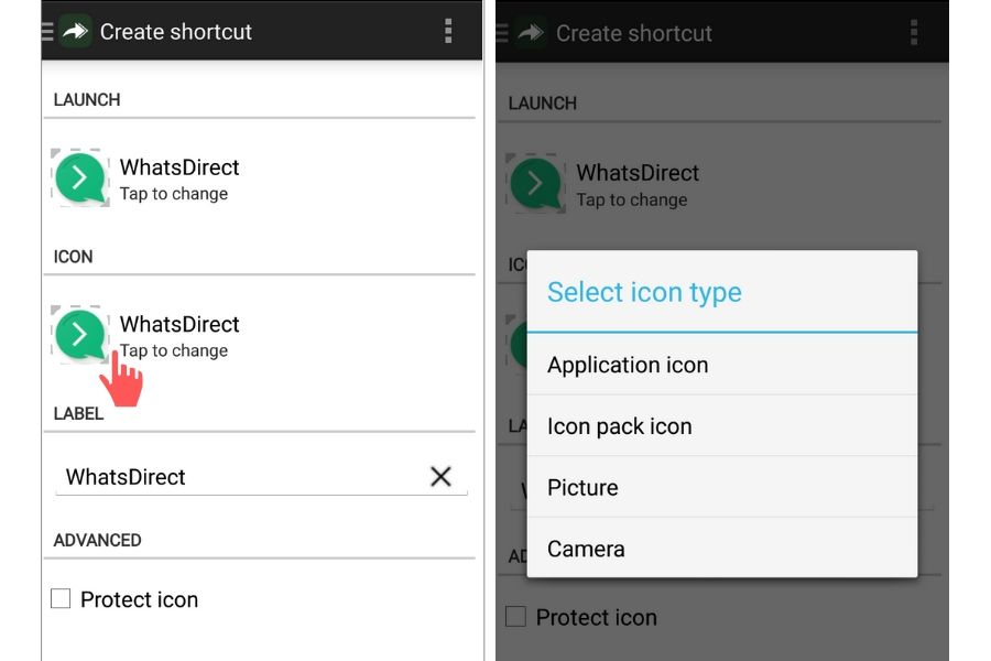 change app shortcut icon