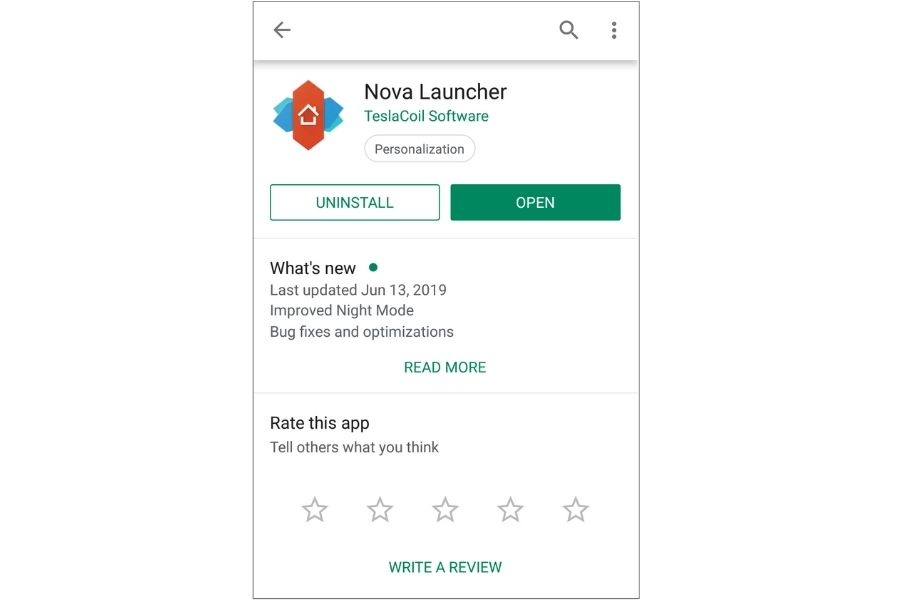 Change Android's Icon with Nova Launcher