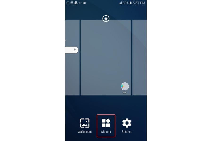 open android notification widgets