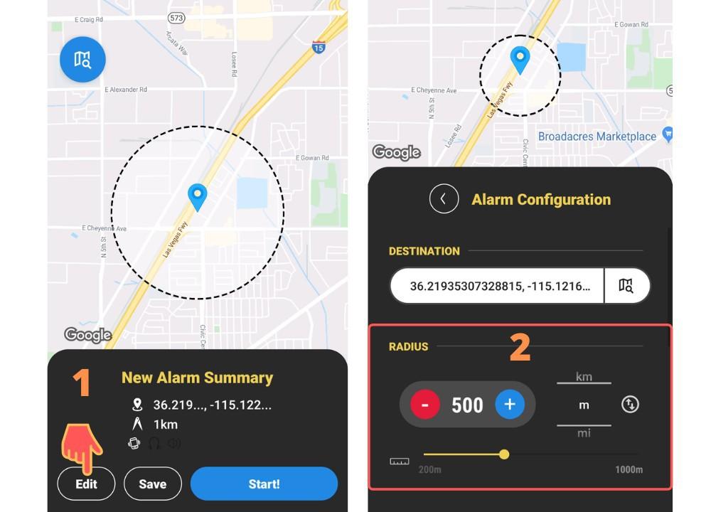 Naplarm location alarm GPS alarm
