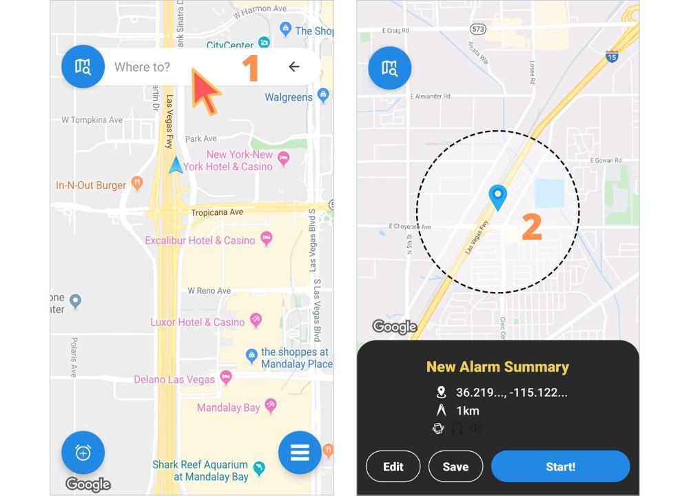 train alarm app