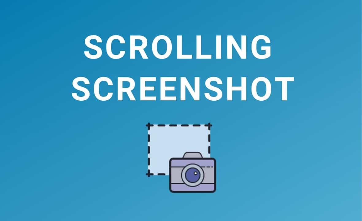 how to take scrolling screenshot in windows 10