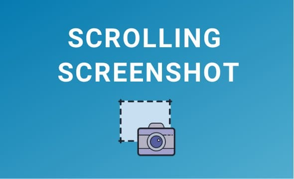 Take scrolling screenshot in Windows 10