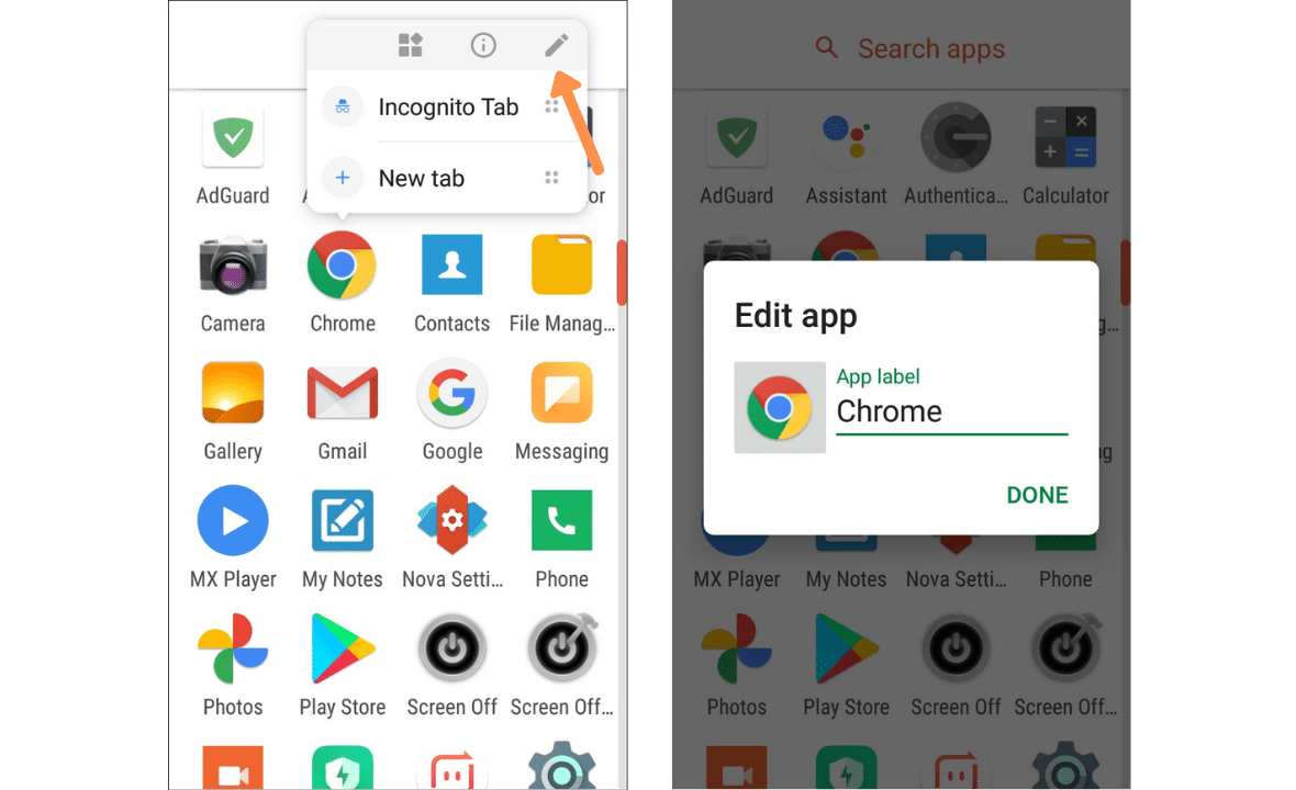 how to hide apps in android nova launcher