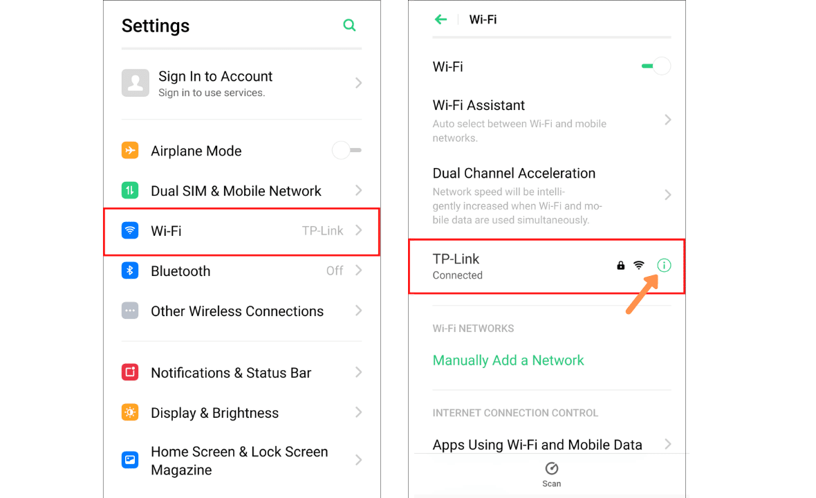 how to change dns server in android