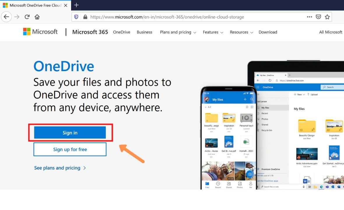 how to use onedrive on pc