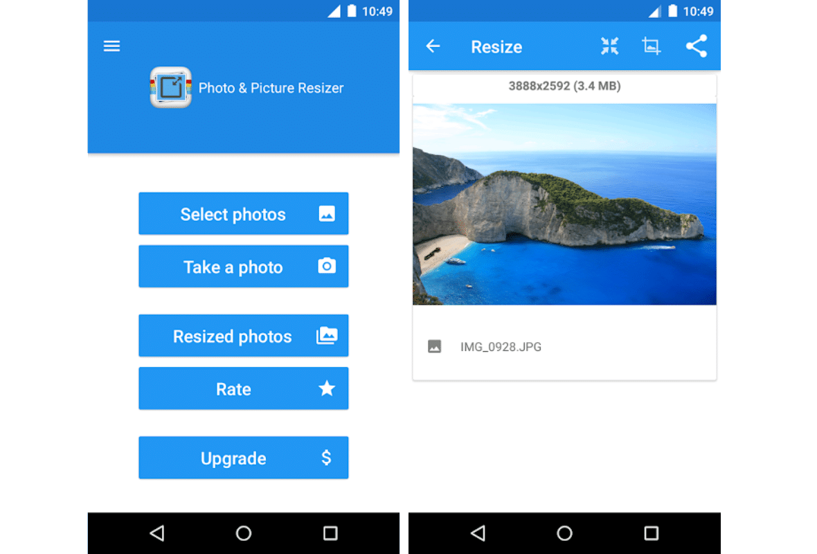 photo resizer app for android