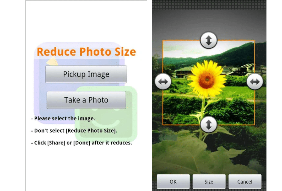 how to reduce photo file size on android phone