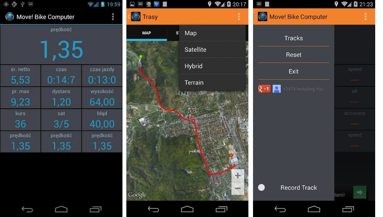android cycling app
