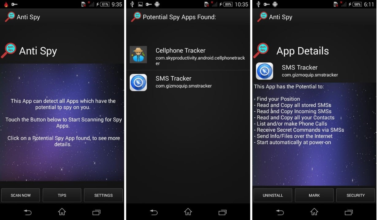how to remove spyware from android