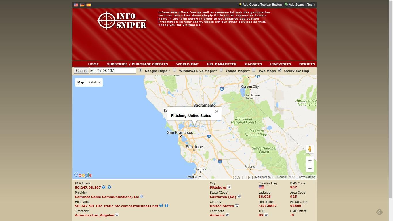 tracking an ip address