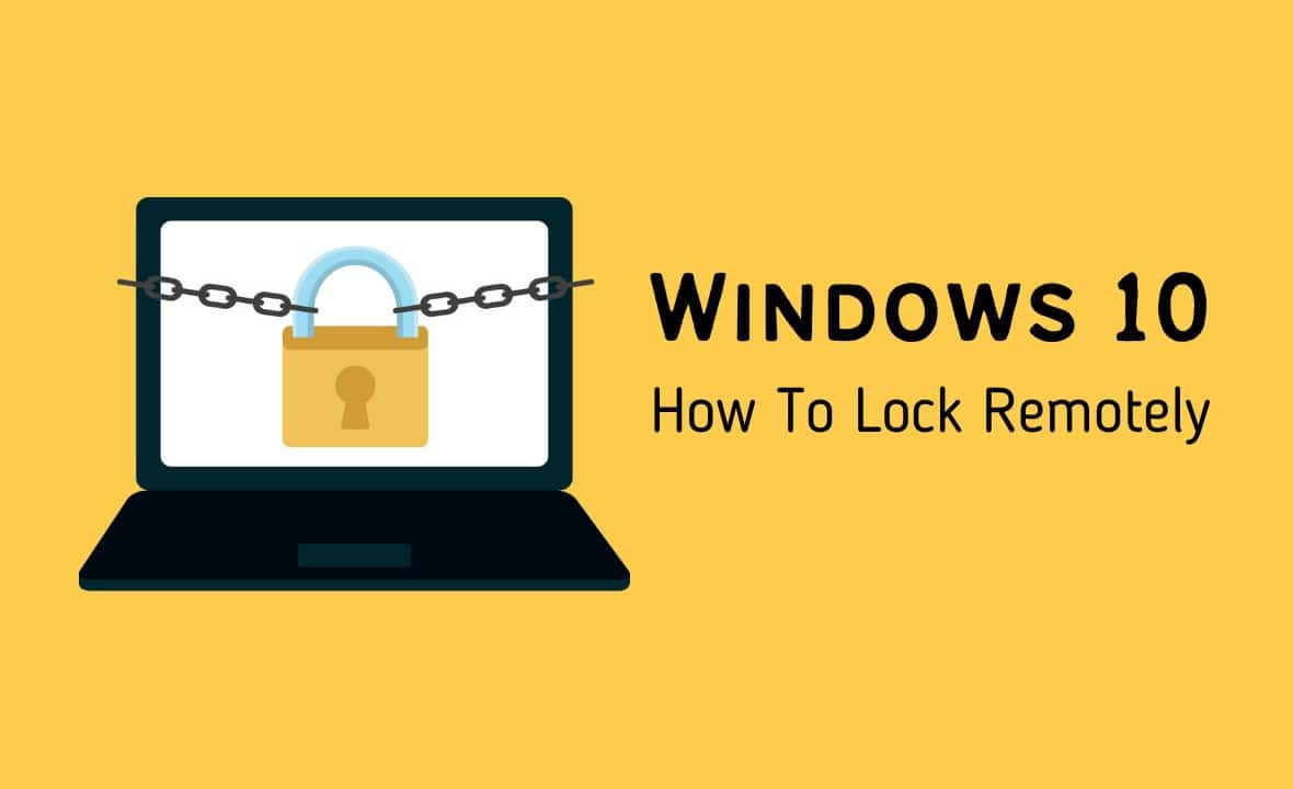 lock my windows pc remotely