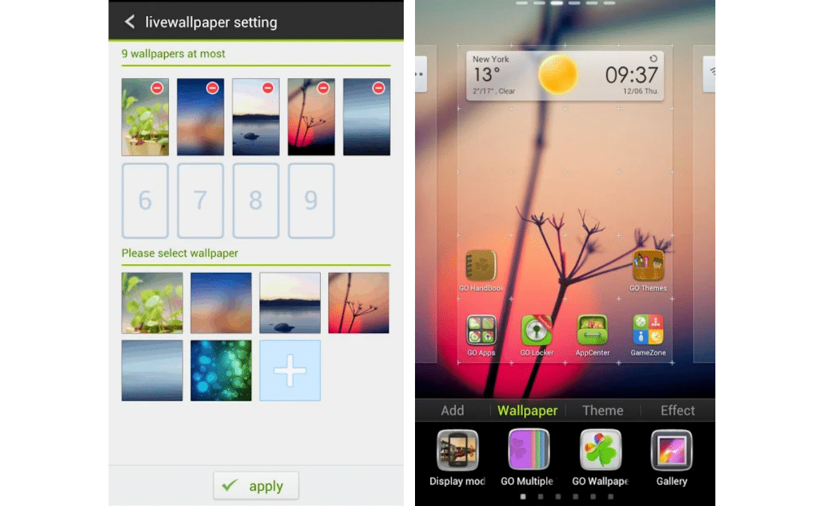 wallpaper slideshow for android