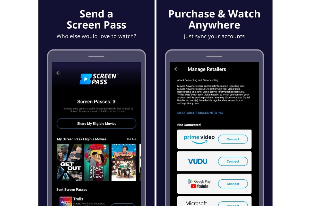 Movies Anywhere, best android movie app